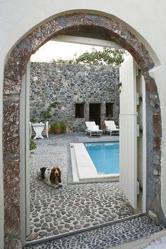 Mediterranean Living I Santorini Villa Oh this is the best pool idea I've seen. I'm in love!!!