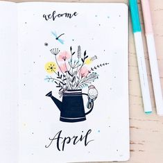 15 Wonderful April Bullet Journal Cover Pages to Inspire You - - A new month is on its way! It's time to start thinking about your April 2019 Bullet Journal setup and cover page. Ready to plan with me? Bullet Journal Inspo, Bullet Journal Front Page, February Bullet Journal, Bullet Journal Monthly Spread, Bullet Journal Notebook, Bullet Journal Aesthetic, Bullet Journal Themes, Bullet Journal Layout, Bullet Journal Month Cover
