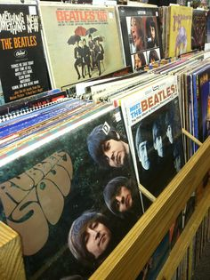 record store bins --beatles othes