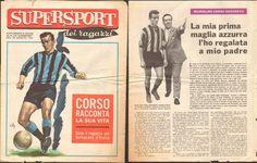 CALCIO-INTER-CORSO RACCONTA LA SUA VITA-RIVISTA SUPERSPORT-AGOSTO 1961