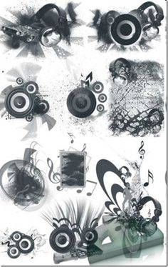 700 Music Photoshop Brushes Free Download