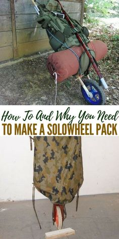 How To And Why You Need To Make A Solowheel Pack - These solowheel packs are awesome if you have more than a bug out bag, if you have a really heavy bag or someone who isn't strong.