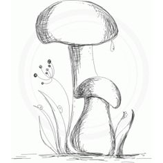 Silhouette Design Store - View Design #65898: mushrooms (sketch)