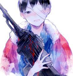 Dark anime boy Haikyuu