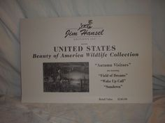 Jim Hansel US Beauty of America wildlife collection 3 of 4 Ducks Pheasants Loons #Realism