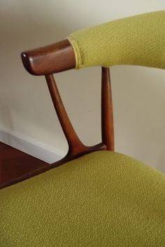 Johannes Andersen 1950s chair upholstered in Bute fabric