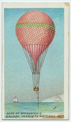 Dune of Brunswick's, Balloon France to Hasrings, 1851