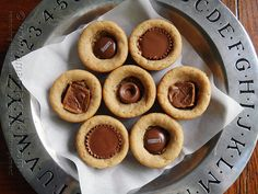 Candy Bar Peanut Butter Cookie Cups @Amanda Snelson Formaro Amanda's Cookin'