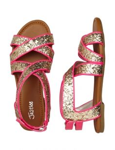 Justice shoes for girls | ... Glitter Sandals | Girls Sandals & Flip Flops Shoes | Shop Justice