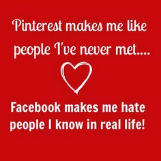 Funny Pinterest and Facebook.