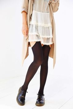 Open-Thigh Garter Tight - Urban Outfitters