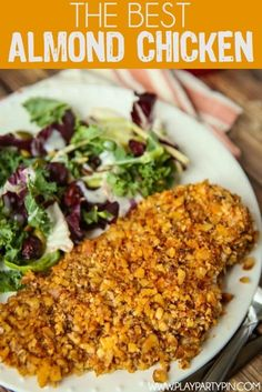 This easy almond chicken recipe is a great paleo dinner idea and perfect for someone looking for a delicious gluten-free dinner!