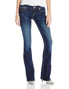 Miss Me Juniors Faux Pocket Embellished Denim Jean