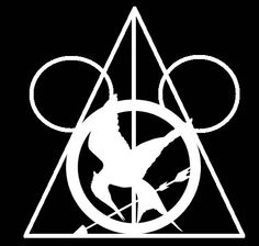 Harry Potter Deathly Hallows + The Hunger Games Mockingjay Pin + Disney Mickey Silhouette = Life