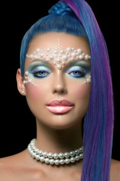 makeup fashion hair face style colors vamp1967 carolyn foster photo edit face hair eyes girl woman blue