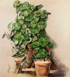Pots of Geraniums - Paul Cezanne
