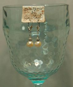 Light peach fresh water pearls peach Swarovski crystal and