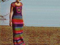 WZ 134 Pattern PDF Granny Square Maxi Dress