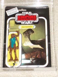 Vintage Star Wars 1982 HAMMERHEAD AFA 90/95/90 CLIPPER ESB PALITOY Card MOC MISP