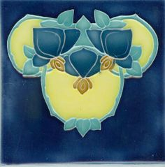 Porteous tile - Art Nouveau reproduction