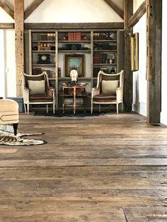 Home | Rousseau Reclaimed Lumber & Flooring Timber Ceiling, Ceiling Beams, Rustic Bookshelf, Hallway Flooring, Barn Renovation, Converted Barn, Reclaimed Lumber, Herringbone Pattern, Great Rooms