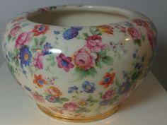 Vintage Erphila Dorset Pattern Bowl Vase Czechoslavakia #Erphila
