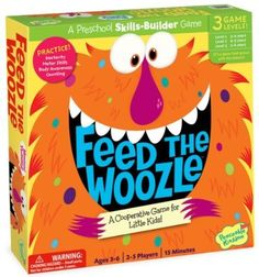 Kid's Board Game - Feed the Woozle Preschool Skills Builder Game Peaceable Kingdom Press Group planning; cooperative play; body with the group