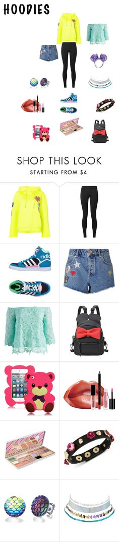 """Untitled #249"" by tristadavis10 on Polyvore featuring Opening Ceremony, The Row, adidas Originals, Miss Selfridge, Simply Irresistible, Huda Beauty, Too Faced Cosmetics, Betsey Johnson, Charlotte Russe and Hoodies"