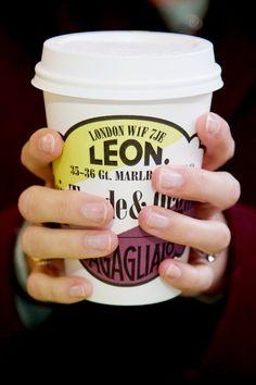 Warming coffee in Winter - Leon Restaurants