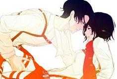 Rivamika Levimika Levi x Mikasa Love Attack On Titan Ships, Attack On Titan Anime, Levi Ackerman, Levi Titan, Levi Mikasa, Rivamika, Eremika, Free Anime, Titans Anime