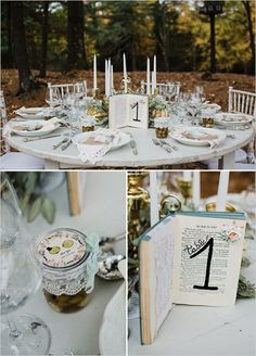 Your Wedding Scrapbook - book table number