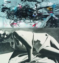 "David Salle - ""Classicism"" 2012 Acrylic and silkscreen on panel"