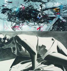 "David Salle - ""Classicism"" 2012 Acrylic and silkscreen on panel"