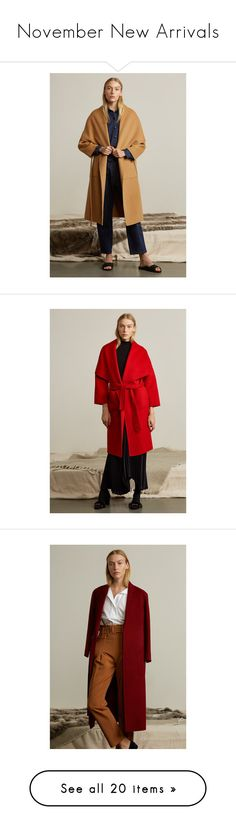 """""""November New Arrivals"""" by genuine-people ❤ liked on Polyvore featuring outerwear, coats, shawl collar wool coat, wool coats, oversized wool coat, oversized coat, shawl collar coat, red wool coat, wrap coat and heavy coat"""