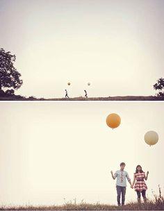 engagement photos balloons