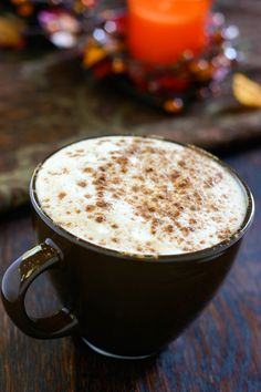 "My Favorite Fall Drink!!! Starbuck's Pumpkin Spice Latte.  Cant wait to try this copycat recipe and save some cash!!! The Hubs will be happy to see me finally using my ""must have"" cappuccino machine :)"