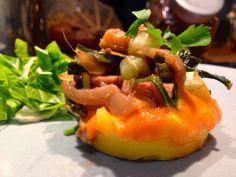 Patrícia is cooking.: Polenta com tomate, shitake, legumes, tempeh {Vega...