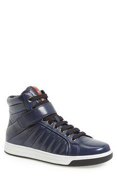 Prada  Avenue  High Top Sneaker (Men) available at  Nordstrom Sneaker Boots 85e0503cd98