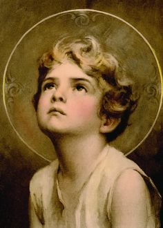 """Glossy full-color print of the Divine Innocence image suitable for framing. """"Divine Innocence"""" depicts Jesus Christ as a child looking up to heaven. It was cre Jesus Christ Images, Jesus Art, God Jesus, Religious Pictures, Jesus Pictures, Catholic Art, Religious Art, Jesus Reyes, Christian Images"""