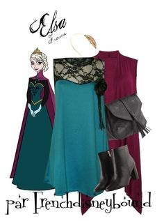 """Elsa (Frozen)"" by frenchdisneybound ❤ liked on Polyvore featuring women's clothing, women, female, woman, misses, juniors, disney, disneybound and frozen"