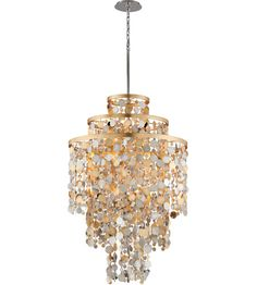 Corbett Lighting 215-711 Ambrosia 32 inch Gold and Silver Leaf Pendant Ceiling…