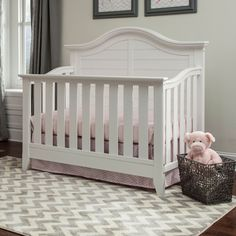 thomasville kids southern dunes 4in1 convertible crib with its paneled headboard