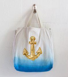 Sequin Anchor Tote Bag - Confetti Pop