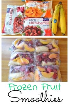 Make Ahead Smoothie Packs – My Favorite Frozen Fruit Smoothie Recipes – Super Simple and Insanely Good! – – Make Ahead Smoothie Packs – My Favorite Frozen Fruit Smoothie Recipes – Super Simple and Insanely Good! Make Ahead Smoothies, Freezer Smoothies, Healthy Fruit Smoothies, Fruit Smoothie Recipes, Healthy Fruits, Healthy Drinks, Fruit Snacks, Healthy Snacks, Healthy Juices