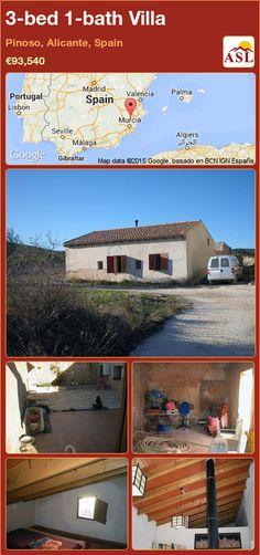 3-bed 1-bath Villa in Pinoso, Alicante, Spain ►€93,540 #PropertyForSaleInSpain