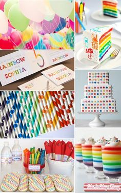 Love the rainbow party idea.and this is our (Allison Kate) rainbow party invite design! Rainbow Parties, Rainbow Birthday Party, Rainbow Theme, Birthday Fun, 1st Birthday Parties, Birthday Ideas, Rainbow Colors, Kunst Party, Festa Party