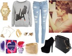 """""""Tenue 42"""" by yasmine-ines ❤ liked on Polyvore"""
