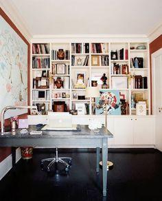 bookshelves, galore.