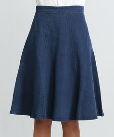 Flying Tomato Indigo A-Line Skirt | zulily