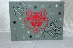 Arkansas State Red Wolves Canvas by AdamsFloristandGifts on Etsy, $39.95
